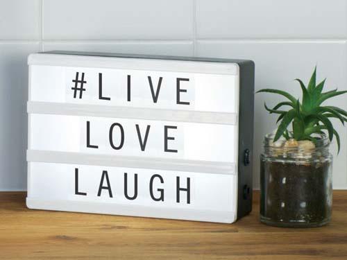 lightboxen live love laugh