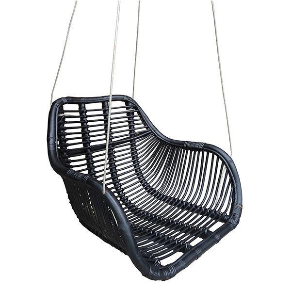 zwarte rotan stoel